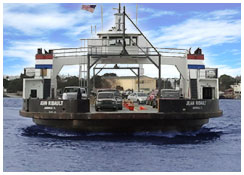 Photo of the Ribault Ferry
